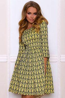 ХИТ продаж: платье с расклешенной юбкой и рукавами 3/4 Open-Style