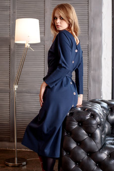 Платье с рукавами летучая мышь и пуговицами сзади RUXARA