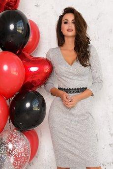 Платье с запахом и v-образным вырезом Open-Style