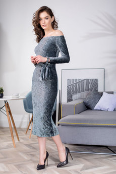 Платье с открытыми плечами RUXARA