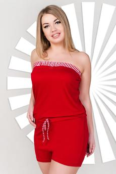 Красный комбинезон бандо Шарлиз