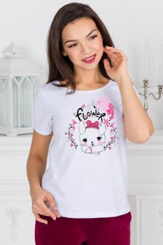 Белая футболка с зайчиком Шарлиз